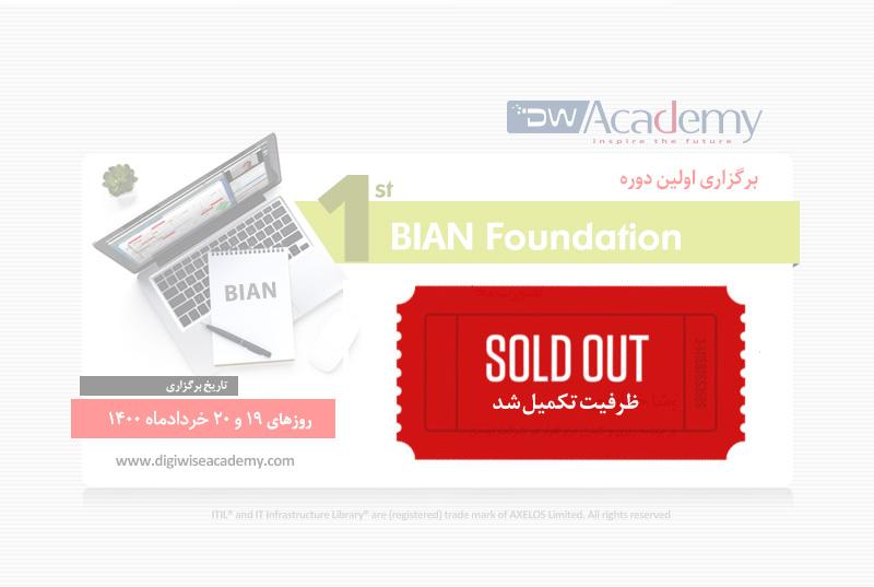 تکمیل ظرفیت دوره BIAN Foundation دیجی وایز آکادمی