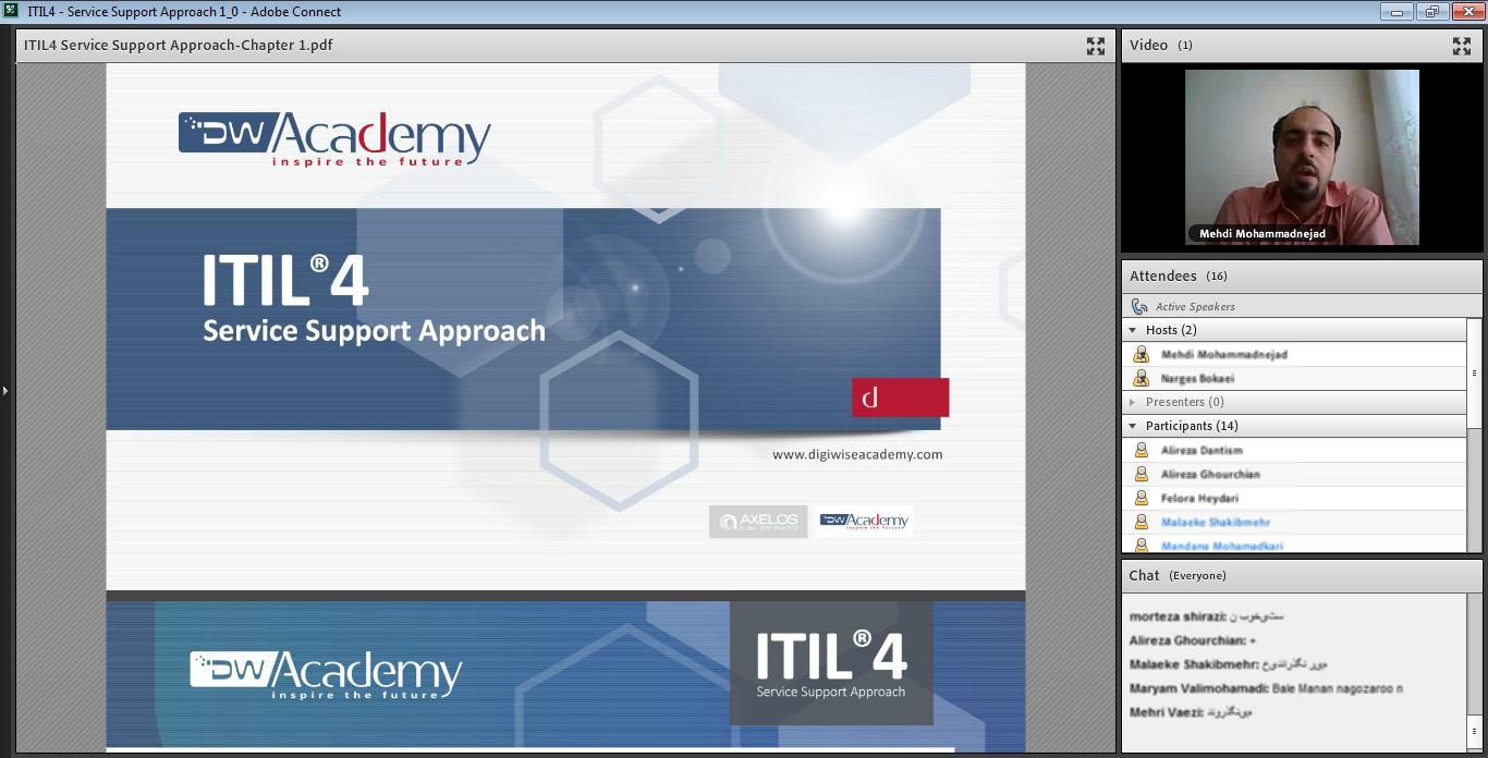 اولین دوره آنلاین ITIL4 Service Support Approach دیجی وایز آکادمی